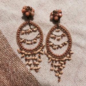 Beautiful Vintage Bohemian Pebble Statement Earing